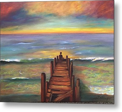 Metal Print featuring the painting Perfect Solitude  by Susan Dehlinger