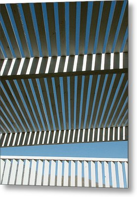 Pergola Bottom Metal Print