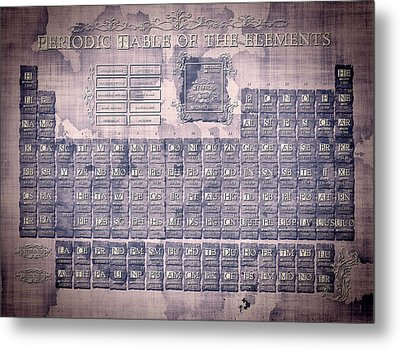Periodic Table Of The Elements Vintage 2 Metal Print