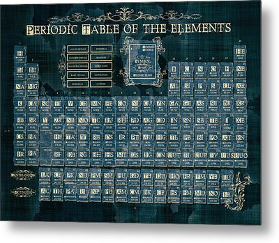 Periodic Table Of The Elements Vintage 4 Metal Print