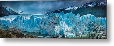 Perito Moreno Panorama Metal Print by Inge Johnsson