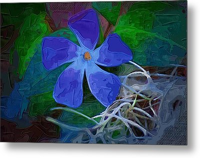 Metal Print featuring the digital art Periwinkle Blue by Donna Bentley