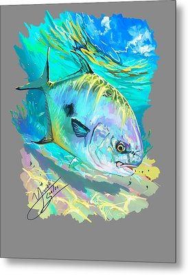 Permit On Fly  Metal Print