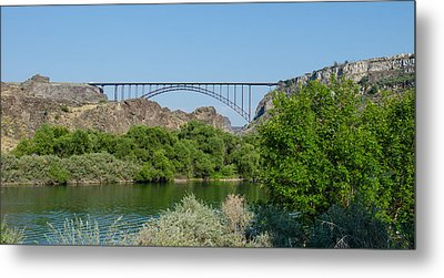 Perrine Bridge At Twin Falls Metal Print