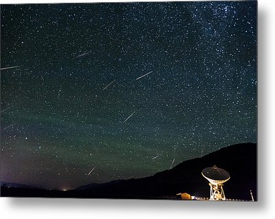 Perseid Meteor Shower Metal Print by Cat Connor