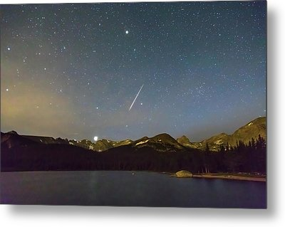 Metal Print featuring the photograph Perseid Meteor Shower Indian Peaks by James BO Insogna