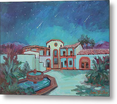 Metal Print featuring the painting Perseids Meteor Shower From La Quinta Museum by Diane McClary