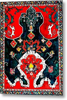 Persian Influence Metal Print by Norma Boeckler