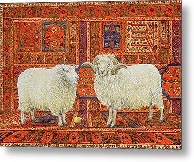 Persian Wool Metal Print