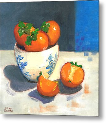 Persimmons Metal Print by Susan Thomas