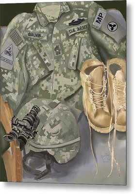 Personalized Art Designed By A Soldier For A Soldier Retiring Or Pcsing   Metal Print