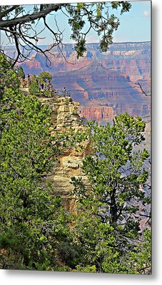 Perspective Of Grand Canyon Metal Print by Linda Phelps