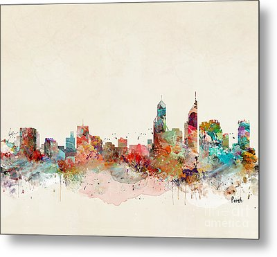 Metal Print featuring the painting Perth Australia by Bri B