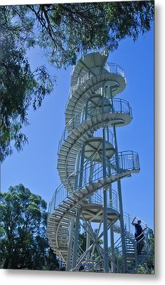 Perth Kings Park Double Helix Dna Tower  Metal Print