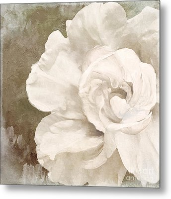 Petals Impasto II Metal Print by Mindy Sommers