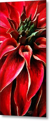 Metal Print featuring the painting Petals by James Shepherd