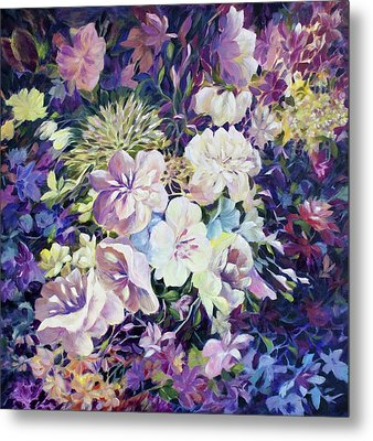 Metal Print featuring the painting Petals by Joanne Smoley