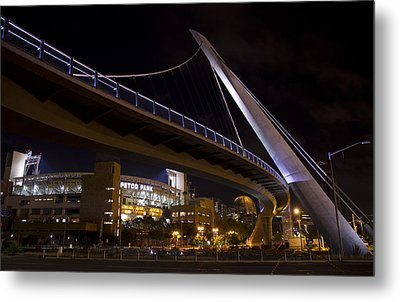 Metal Print featuring the photograph Petco Park And The Pedestrian Bridge by Nathan Rupert