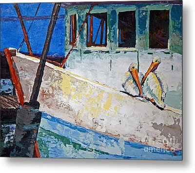 Metal Print featuring the painting Pete And Repete by Suzanne McKee