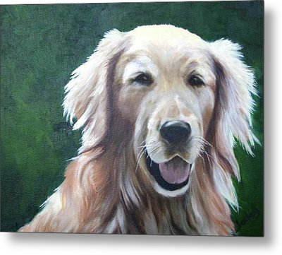 Metal Print featuring the painting Pete by Nancy Jolley