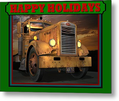 Pete Ol' Yeller Happy Holidays Metal Print by Stuart Swartz