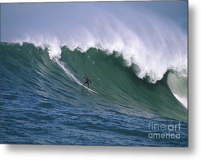 Pete On A Perfect Day At Mavericks Metal Print