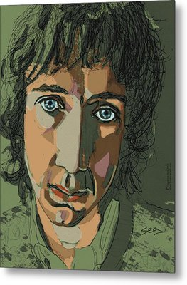 Pete Townshend - Behind Blue Eyes  Metal Print by Suzanne Gee