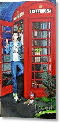 Peter Capaldi Dr Who Putting You Through Metal Print