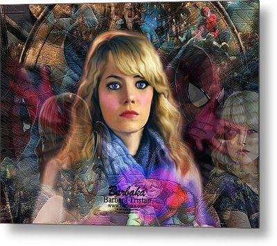 Peter Parker's Haunting Memories Of Gwen Stacy Metal Print by Barbara Tristan