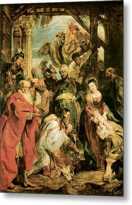 Peter Paul Rubens Metal Print by The Adoration of the Magi