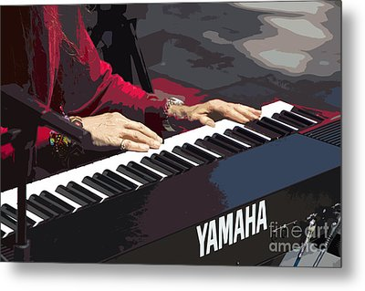 Peter Plays In Cuenca - Painting Metal Print