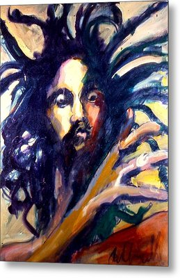 Metal Print featuring the painting Peter Tosh by Les Leffingwell