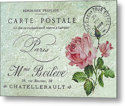 Petit Rose Confection Metal Print by Sarah Vernon