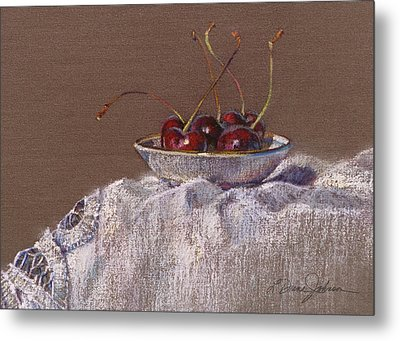 Petite Bowl Iv Metal Print by L Diane Johnson