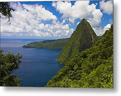 Petite Piton From Gros Piton-st Lucia Metal Print by Chester Williams