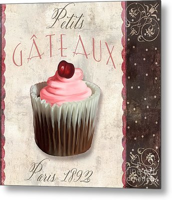 Petits Gateaux Chocolat Patisserie Metal Print by Mindy Sommers