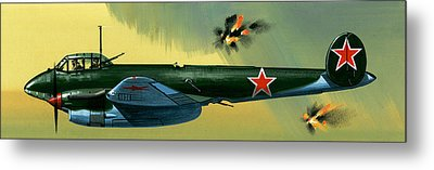 Petlyakov Pe2 Russian Bomber Metal Print by Wilf Hardy