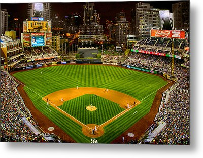 Peto Park In San Diego At Night Metal Print by Irv Lefberg