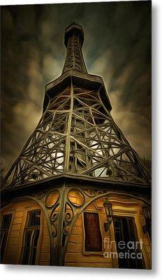 Petrin Lookout Tower - Mixed Media Metal Print