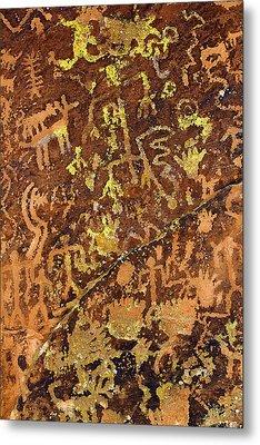 Petroglyph Records Metal Print by Phyllis Denton