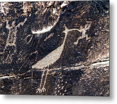 Metal Print featuring the photograph Petroglyphs In Petrified Forest by Jeanette Oberholtzer