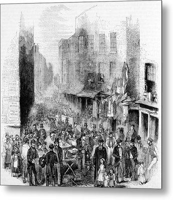 Petticoat Lane, London, On A Sunday Metal Print by Everett