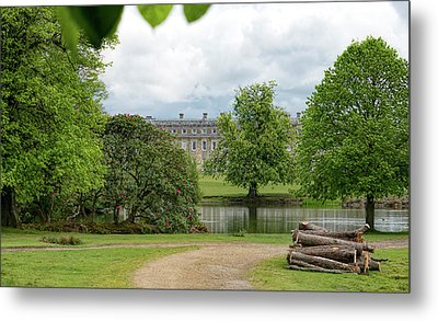 Petworth House On Lake Metal Print by Michael Hope