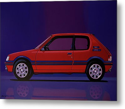 Peugeot 205 Gti 1984 Painting Metal Print by Paul Meijering