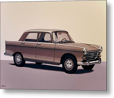 Peugeot 404 1960 Painting Metal Print by Paul Meijering