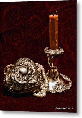 Pewter And Pearls Metal Print by Christopher Holmes
