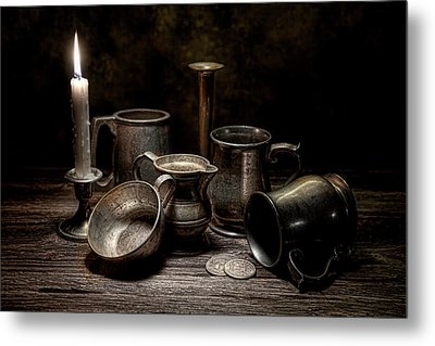 Pewter Still Life II Metal Print by Tom Mc Nemar