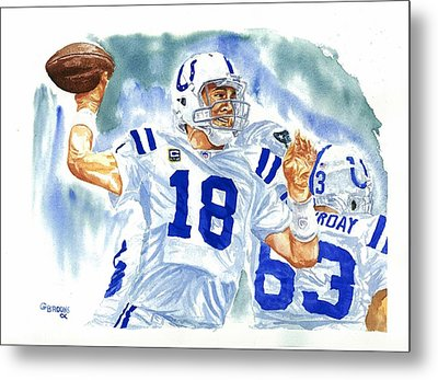 Peyton Manning - The Technician Metal Print by George  Brooks
