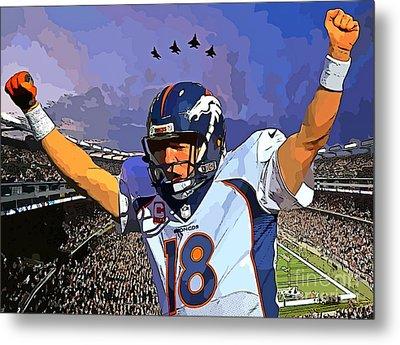 Peyton Manning Super Bowl Great  Metal Print by John Malone