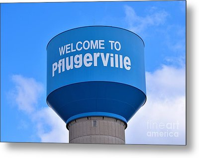 Pflugerville Texas - Water Tower Metal Print